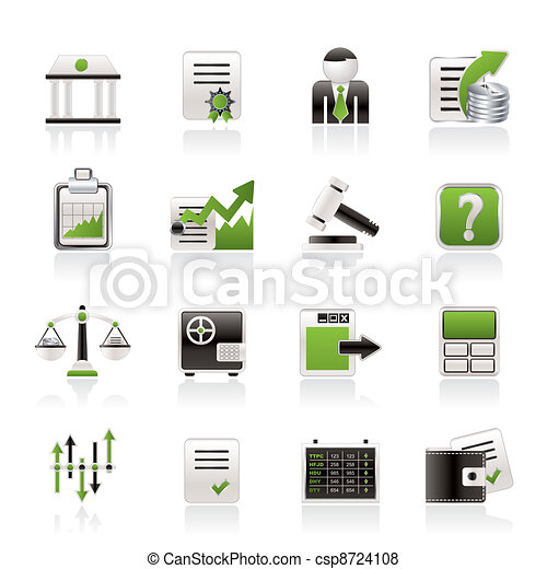 Stock exchange and finance icons - csp8724108