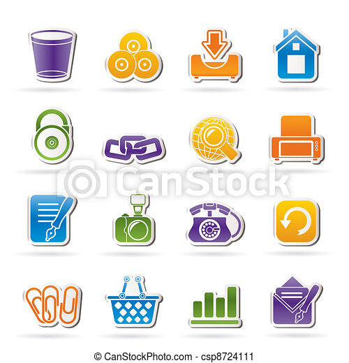 Website and internet icons - csp8724111