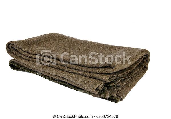 Wool military blanket - csp8724579