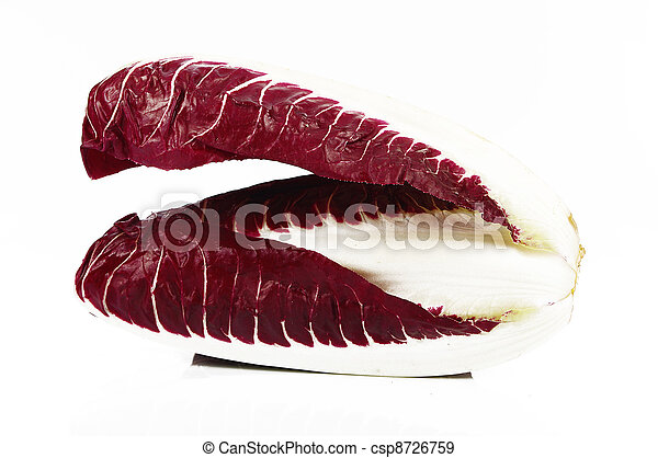 chicory radicchio isolated on white - csp8726759