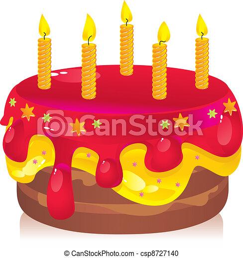 birthday cake - csp8727140