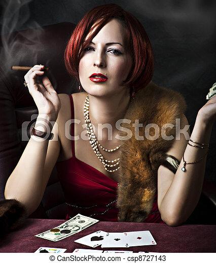 肖像, 婦女, 時裝, 年輕, 成人 - csp8727143
