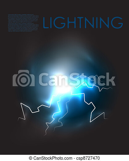Vector abstract lightning background - csp8727470