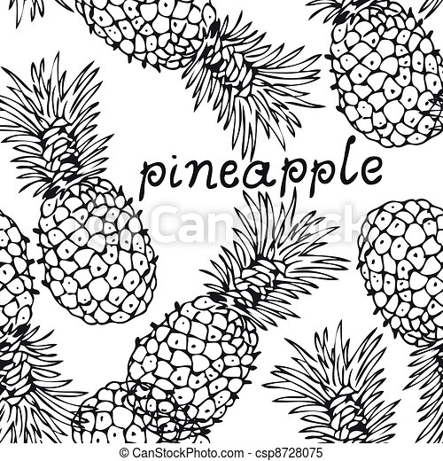 Pineapple background - csp8728075