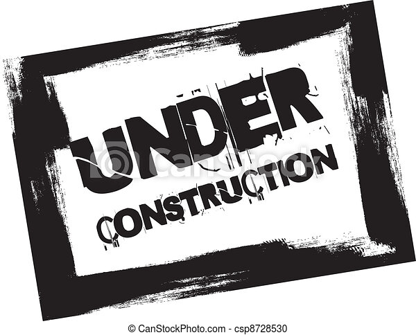 under construction stamp - csp8728530Under Construction Clipart Black And White