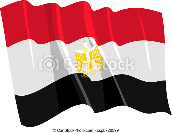 Political waving flag of Egypt - csp8728599