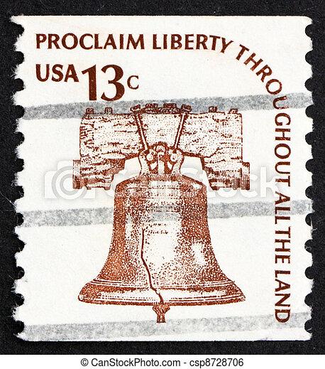 Postage Stamp Usa 1975 Liberty Bell,... Stock Image ...