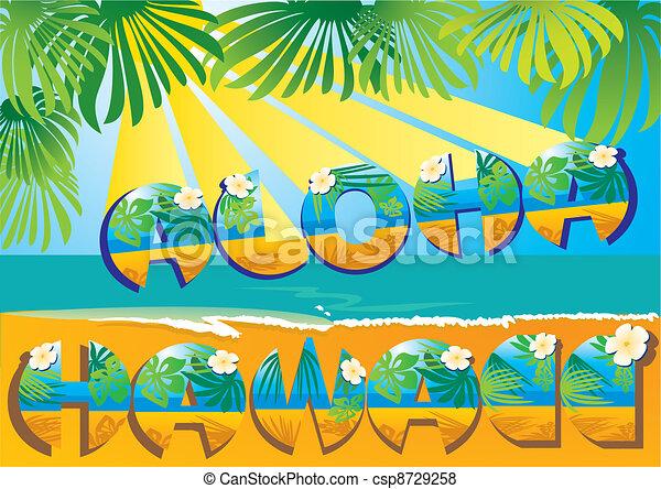 postcard Aloha Hawaii - csp8729258