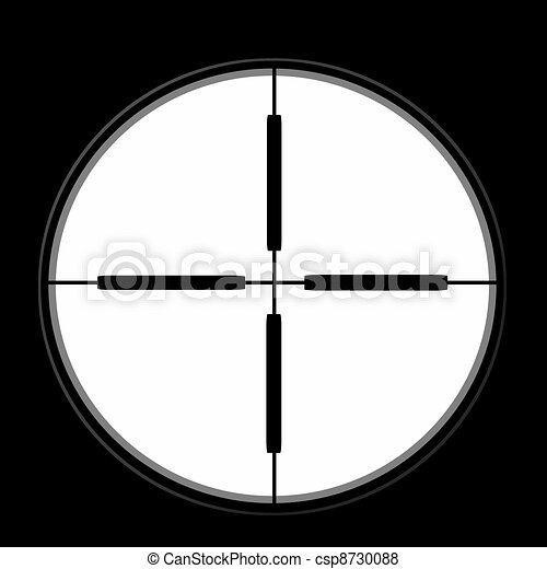 sniper sight isolated on black  - csp8730088