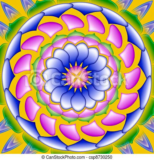 Illustration de color dessin mandala sacr - Dessin colore ...