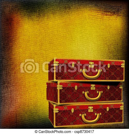 Vintage travel luggage - csp8730417