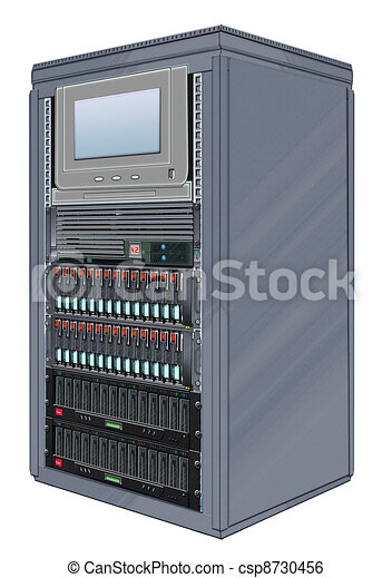 Stock Illustration Of Computer Server Cabinet
