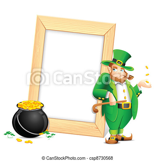 Saint Patrick's Day Photo Frame - csp8730568