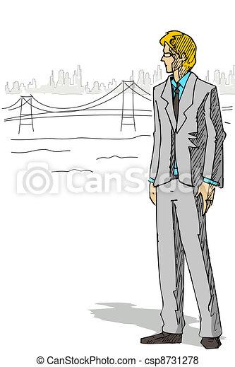 Smart Businessman - csp8731278