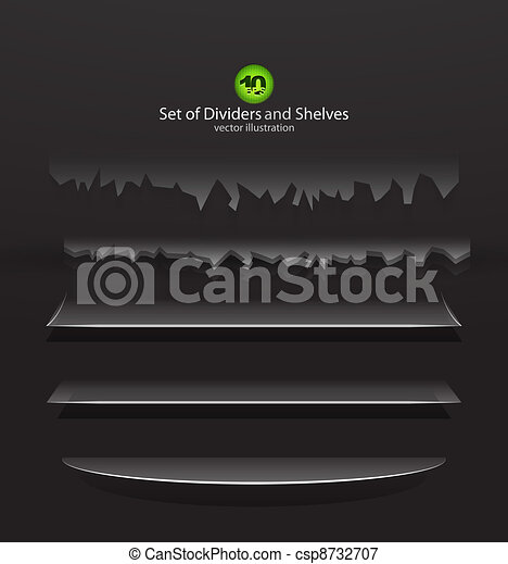 Vector dividers and shelves - csp8732707