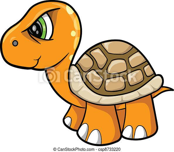 Tough Turtle Animal Wildlife Vector - csp8733220