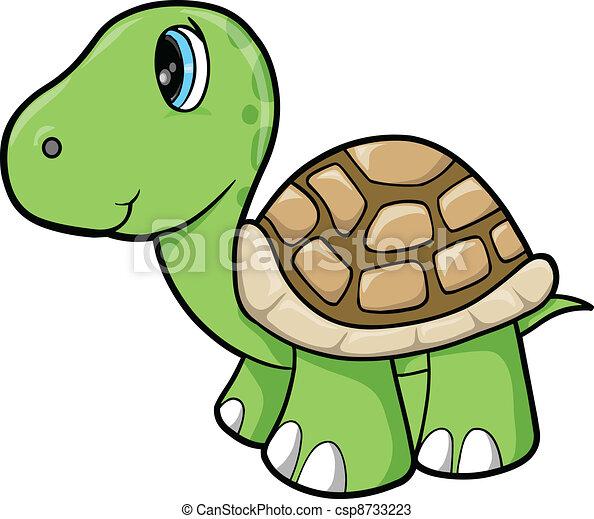 vectorer af skildpadde cute vektor dyr   cute