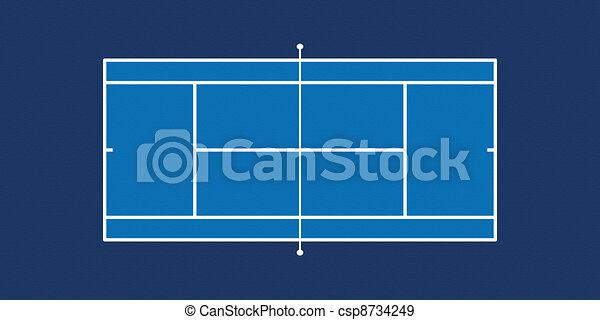 Tennis Court - csp8734249