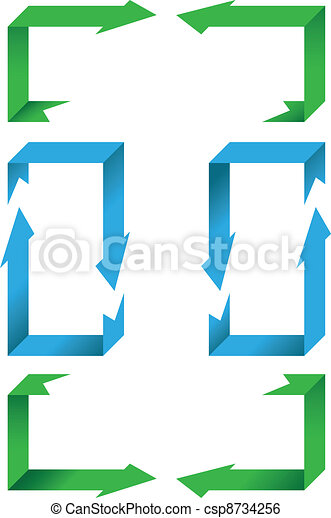 Perspective Arrows Collection - Vector Illustrations - csp8734256
