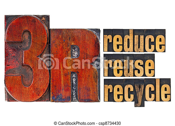 reduce, reuse, recycle - 3R concept - csp8734430