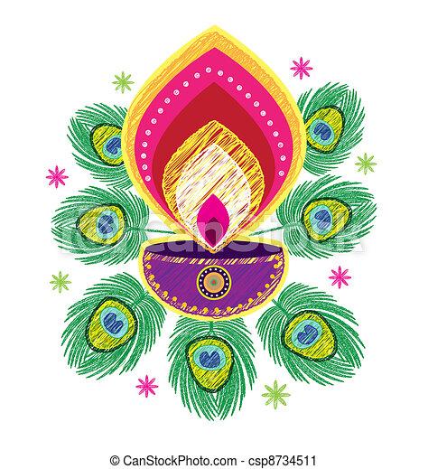 Indian Oil Lamp icon  - csp8734511