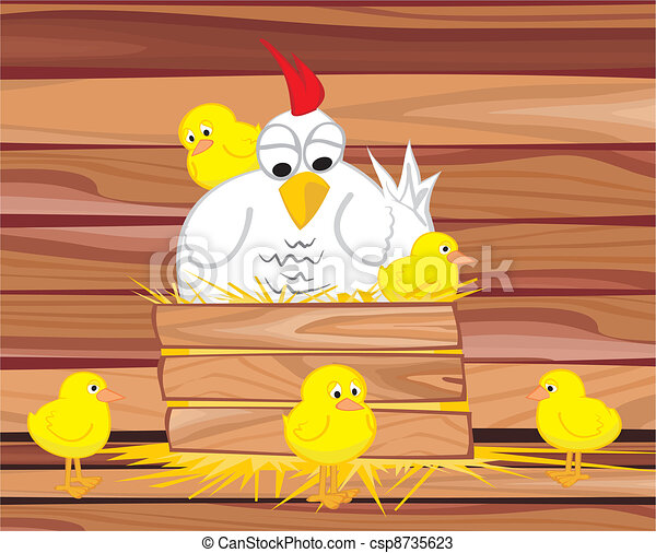 in the hen house - csp8735623