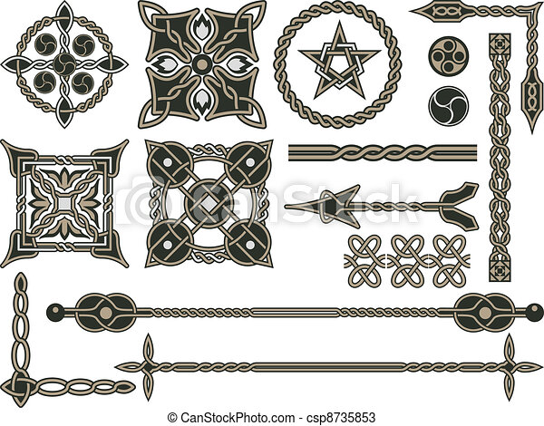 Celtic traditional elements - csp8735853