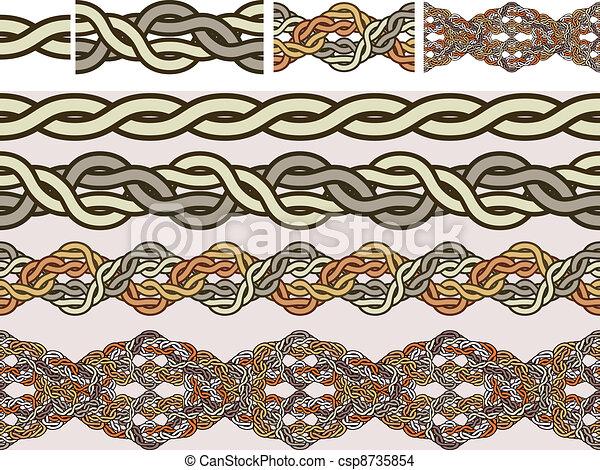 Celtic national ornaments - csp8735854