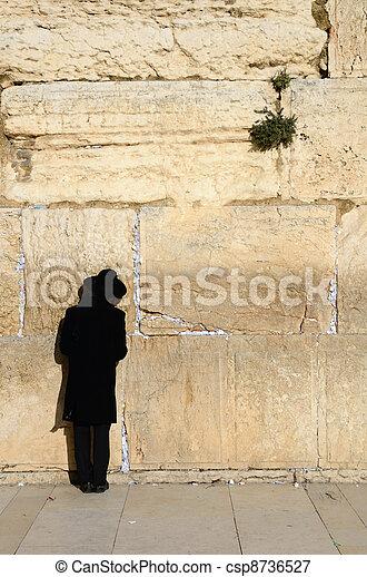 Hassidic Jew Praying - csp8736527