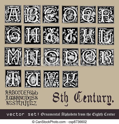 Ornamental Alphabets - csp8736602