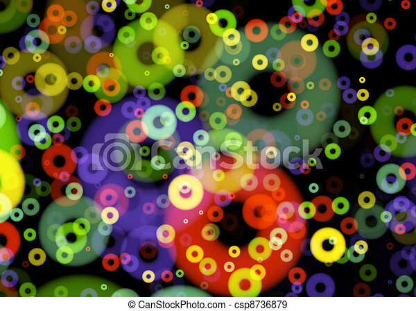 Colored Disks Background - csp8736879