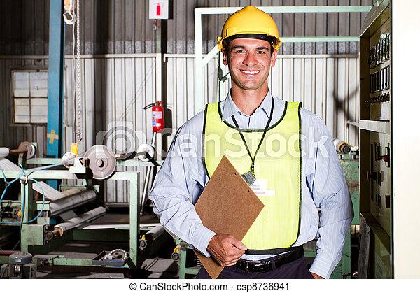 industrial worker in factory - csp8736941
