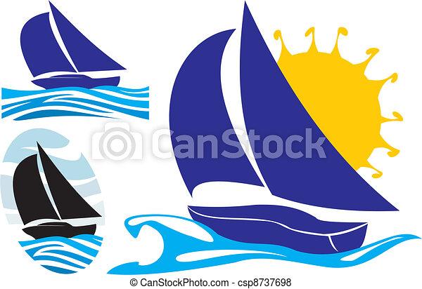 yachting and sailing - csp8737698