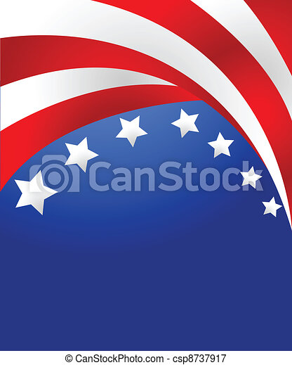 USA flag in style vector - csp8737917