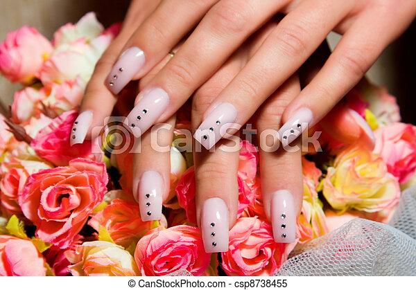 Beautiful nails with Art - csp8738455