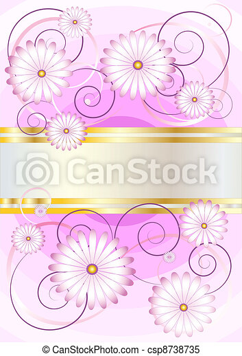 Delicate flowers on a background of - csp8738735