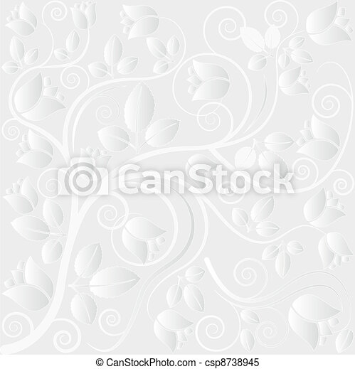 clear background with floral ornaments - csp8738945