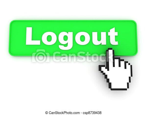 Logout Button Logo Logout Button With Hand Cursor