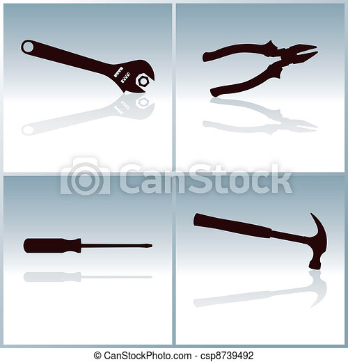 Tools Collection Silhouettes - csp8739492