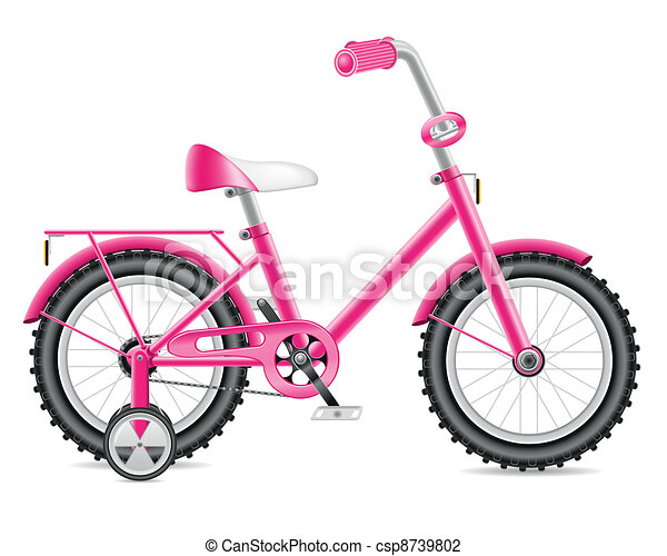 kids bicycle for a girl - csp8739802