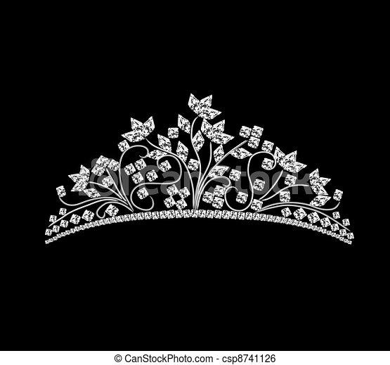 diadem feminine wedding with rock crystals - csp8741126