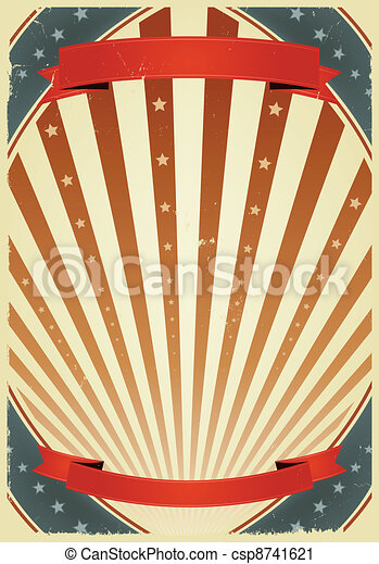 American Fourth Of July Banners - csp8741621