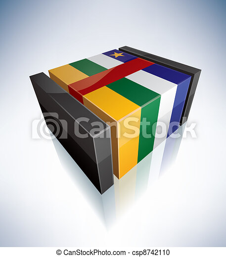 3D flag of Central African Republic - csp8742110