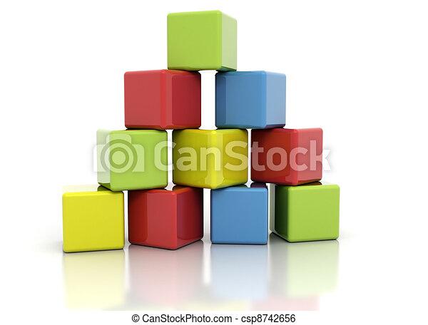Colorful building blocks  - csp8742656