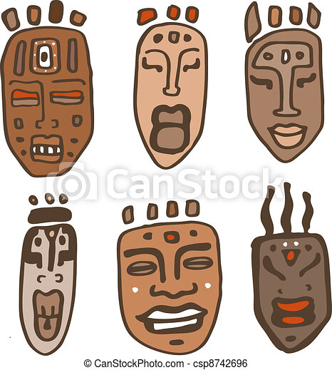 Illustration african masks africa Stock Illustrations. 664 ...