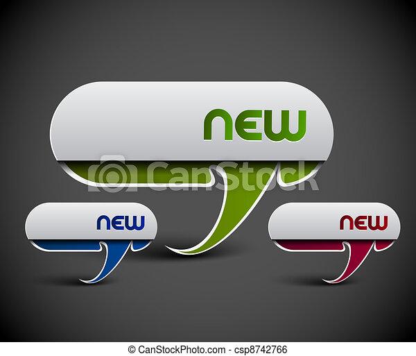 advertisement labels stickers - csp8742766