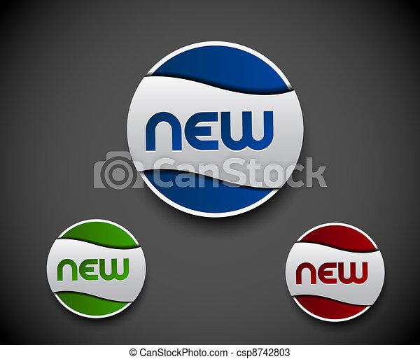 advertisement labels stickers - csp8742803