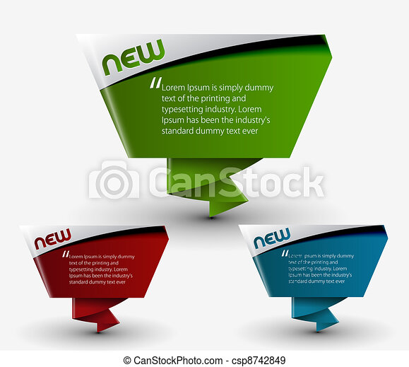 advertisement labels stickers - csp8742849
