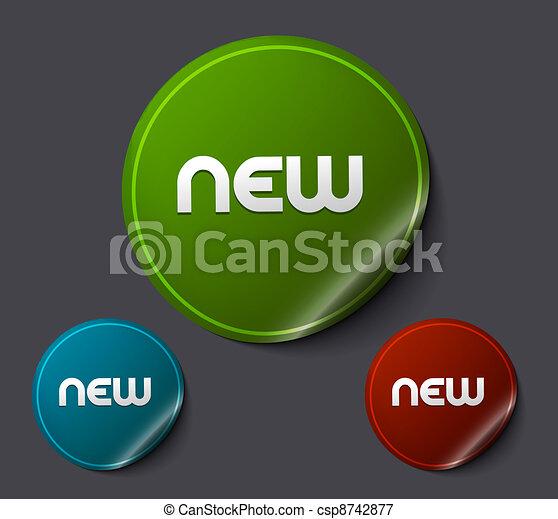 advertisement labels stickers - csp8742877