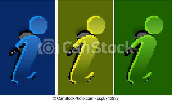 vector information web peel off design - csp8742937